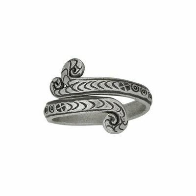 Sterling Silver Hilltribe Scroll Ring - RTM4255