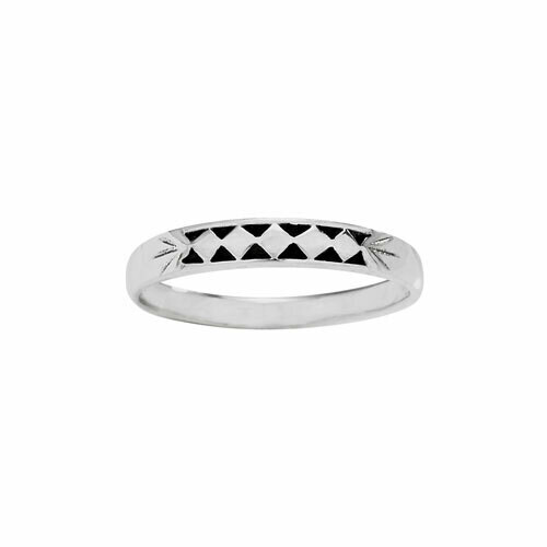 Sterling Silver Diamond Shape Stack Ring - RTM4275