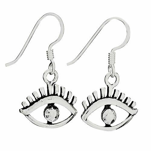 Sterling Silver Eye Earrings - ETM4773