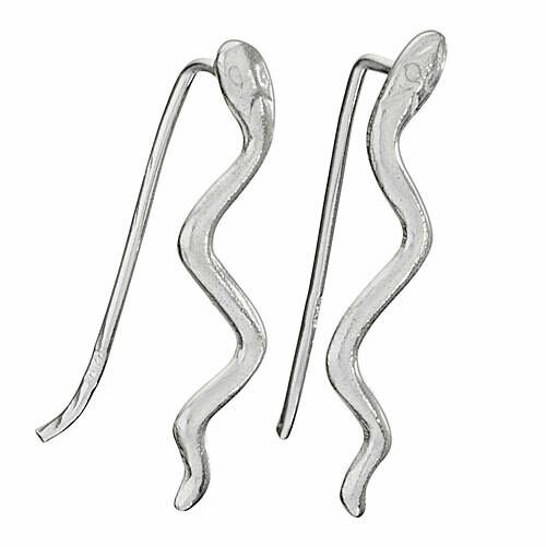 Sterling Silver Snake Ear Climbers - ETM4809