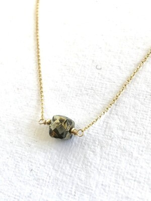 Pyrite Gaia Necklace Cube - GDFDN22