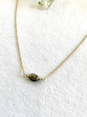 Pyrite Gaia Necklace Oval - GDFDN21