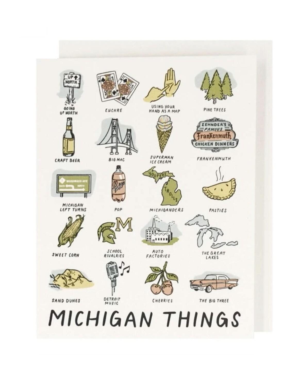 Michigan Things Letterpress Greeting Card