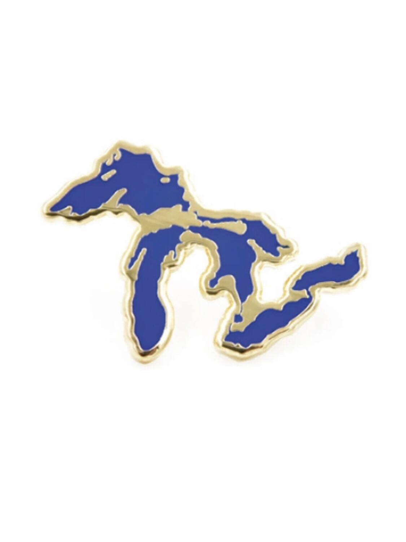 Great Lakes Silhouette Enamel Pin - CBP1