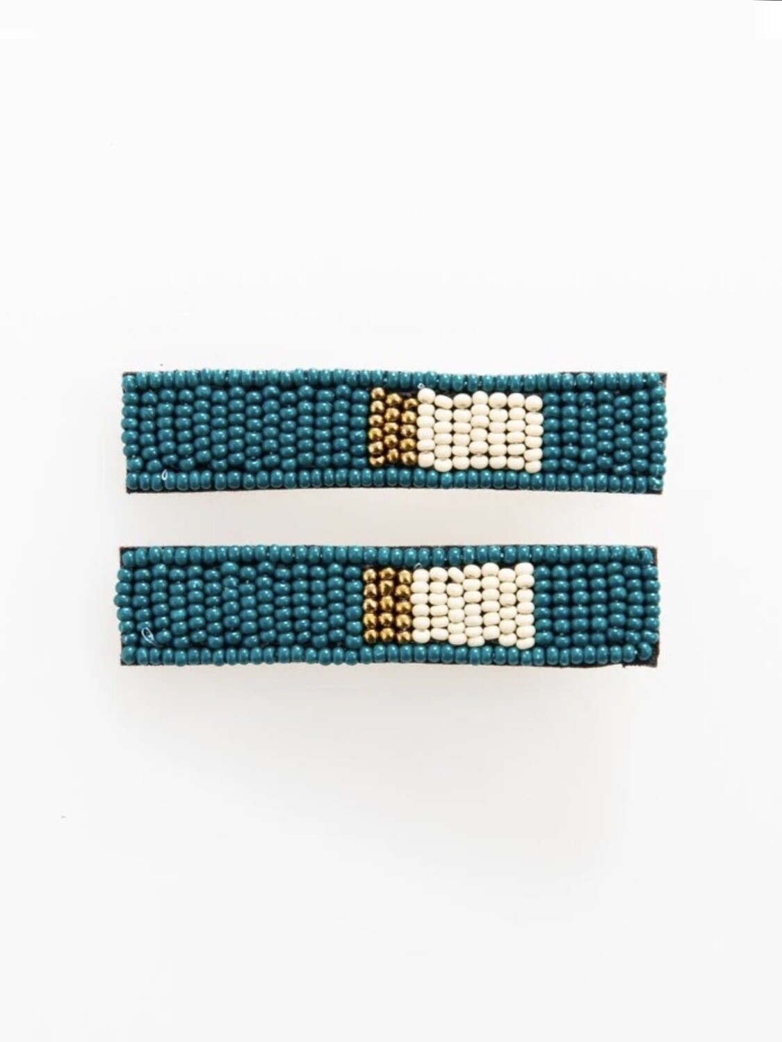 Peacock Small Hair Barrettes Pair - IAHA2