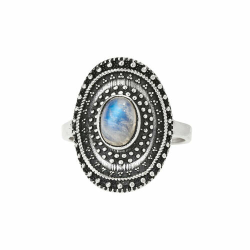 Sterling Silver Rainbow Moonstone Ring - RTM4402