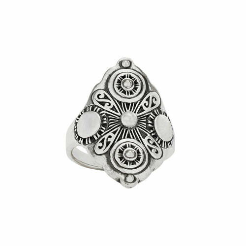 Sterling Silver Intricate Pattern Ring - RTM4357