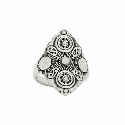 Sterling Silver Cosmos Statement Ring - RTM4357
