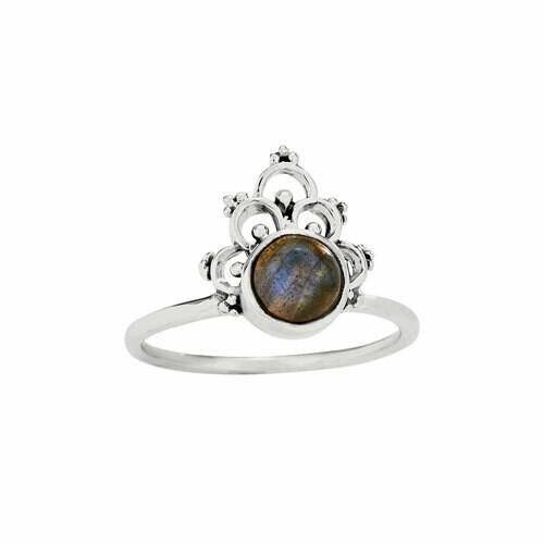Sterling Silver Labradorite Henna Ring - RTM4349