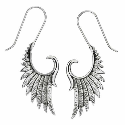 Sterling Silver Wing Earrings - ETM4855