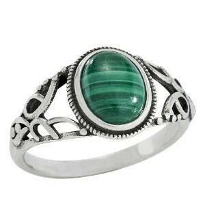 Sterling Silver Open Sided Malachite Ring -RTM3775