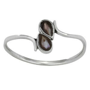 Sterling Silver Blk Mother of Pearl RIng - RTM3971