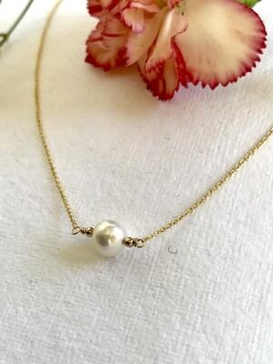 Venus Large Round Pearl Festoon Necklace - GDFDN18