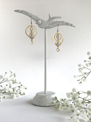 Opalescent Aphrodite Circle Earrings - GDFDLKE9
