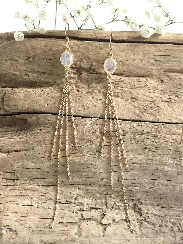 Moonstone Aphrodite Oval Earrings - GDFDLKE1