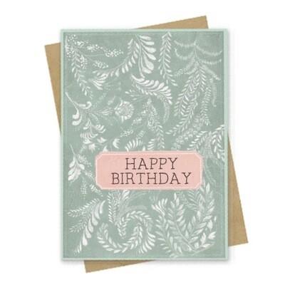 Happy Birthday Flora Small Greeting Card