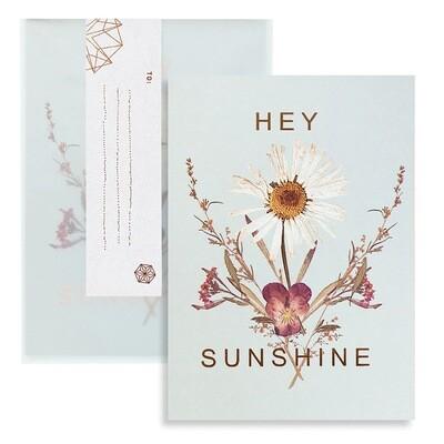 Hey Sunshine Daisy Greeting Card