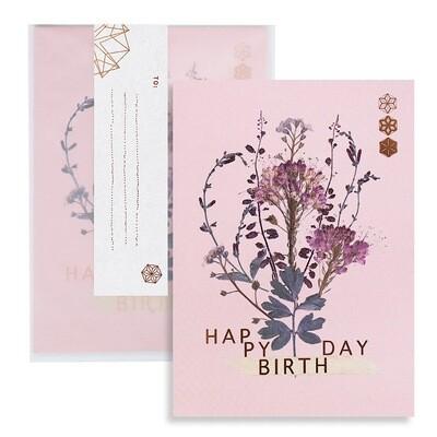 Bundle Blooms Happy Birthday Greeting Card