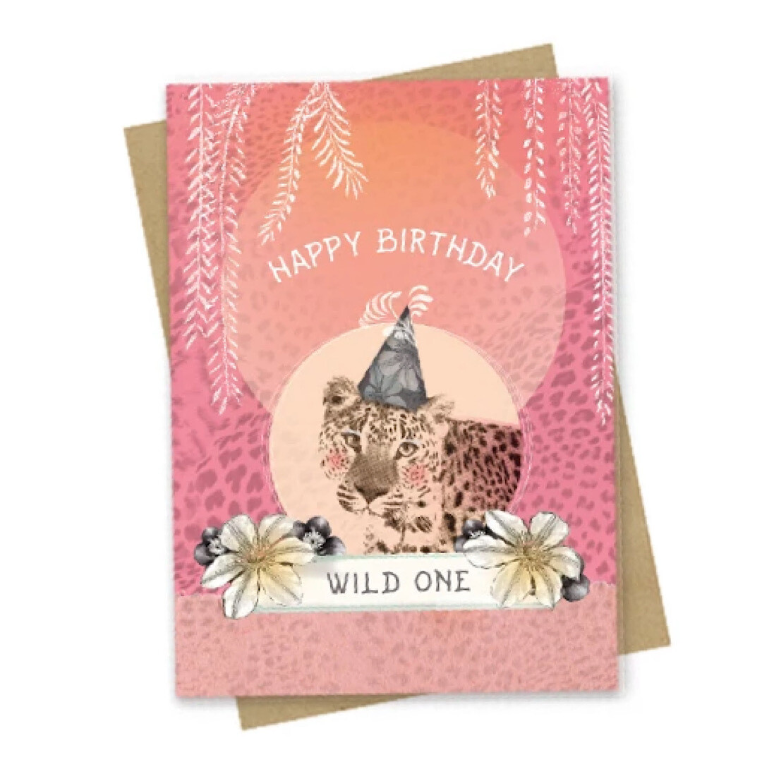 Happy Birthday Wild One Small Greeting Card - PAC169