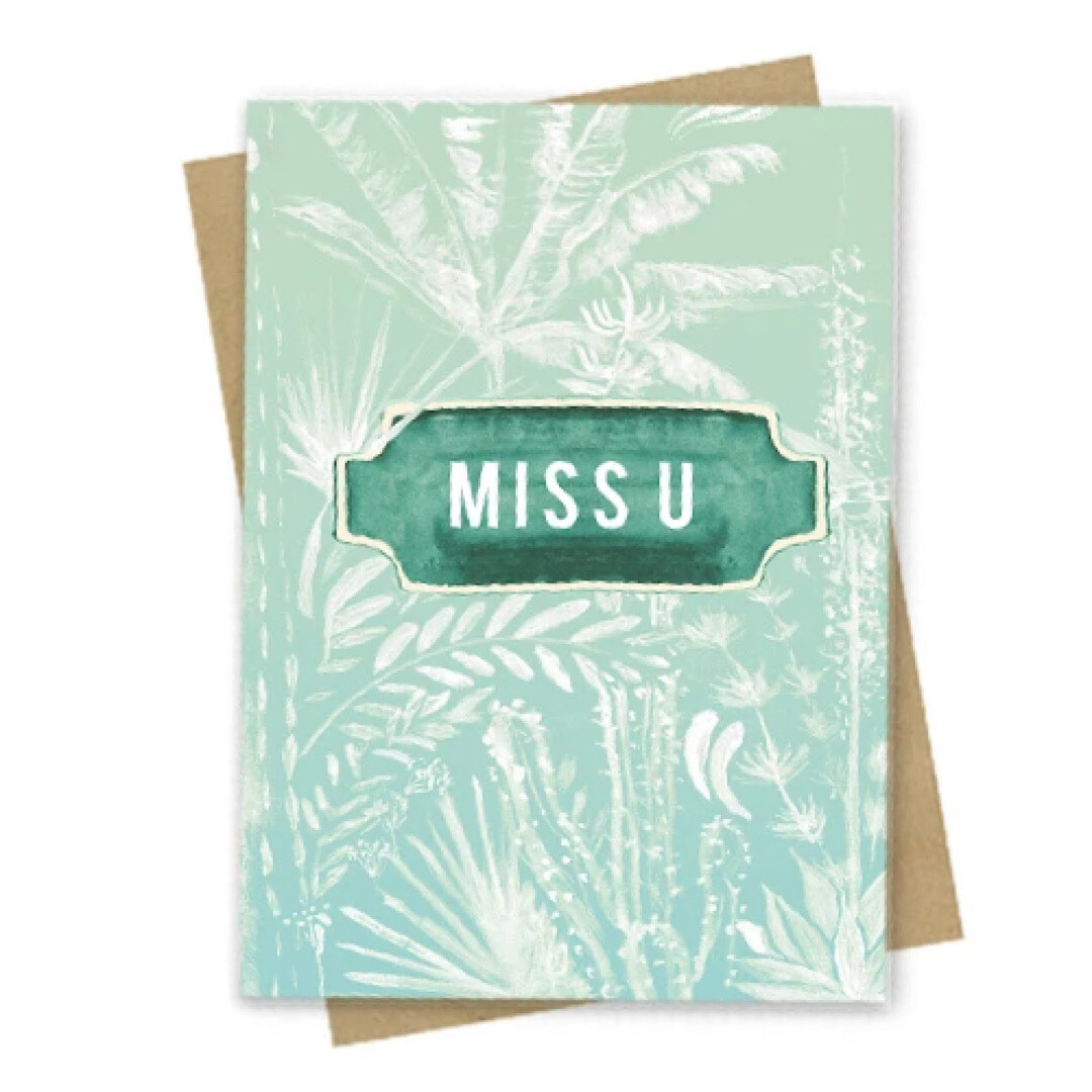 Miss U Small Greeting Card