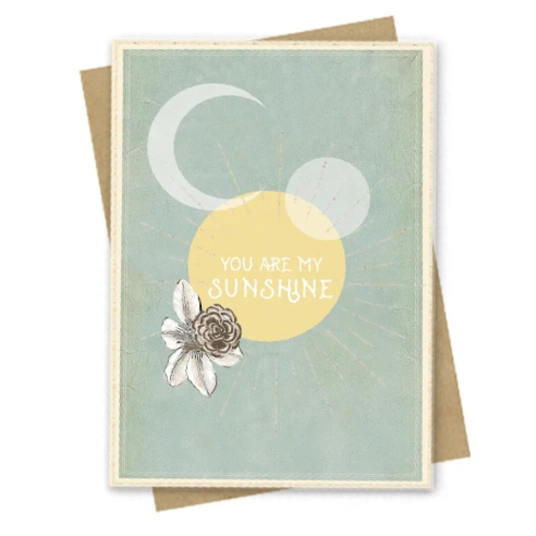 You Are My Sunshine Small Greeting Card
