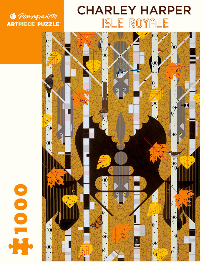 Charley Harper Isle Royale 1,000 Piece Puzzle - AA982
