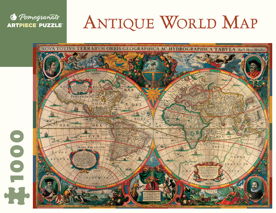 Antique World Map 1,000 Piece Puzzle - AA603