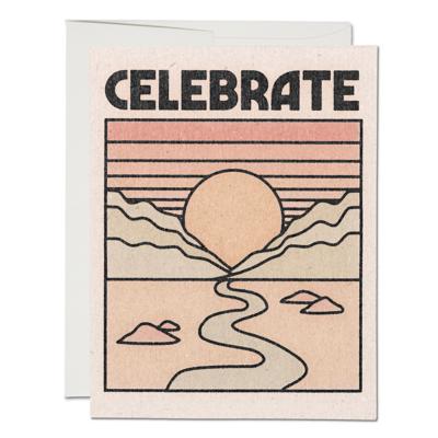 Celebrate Sunset Greeting Card - RC66
