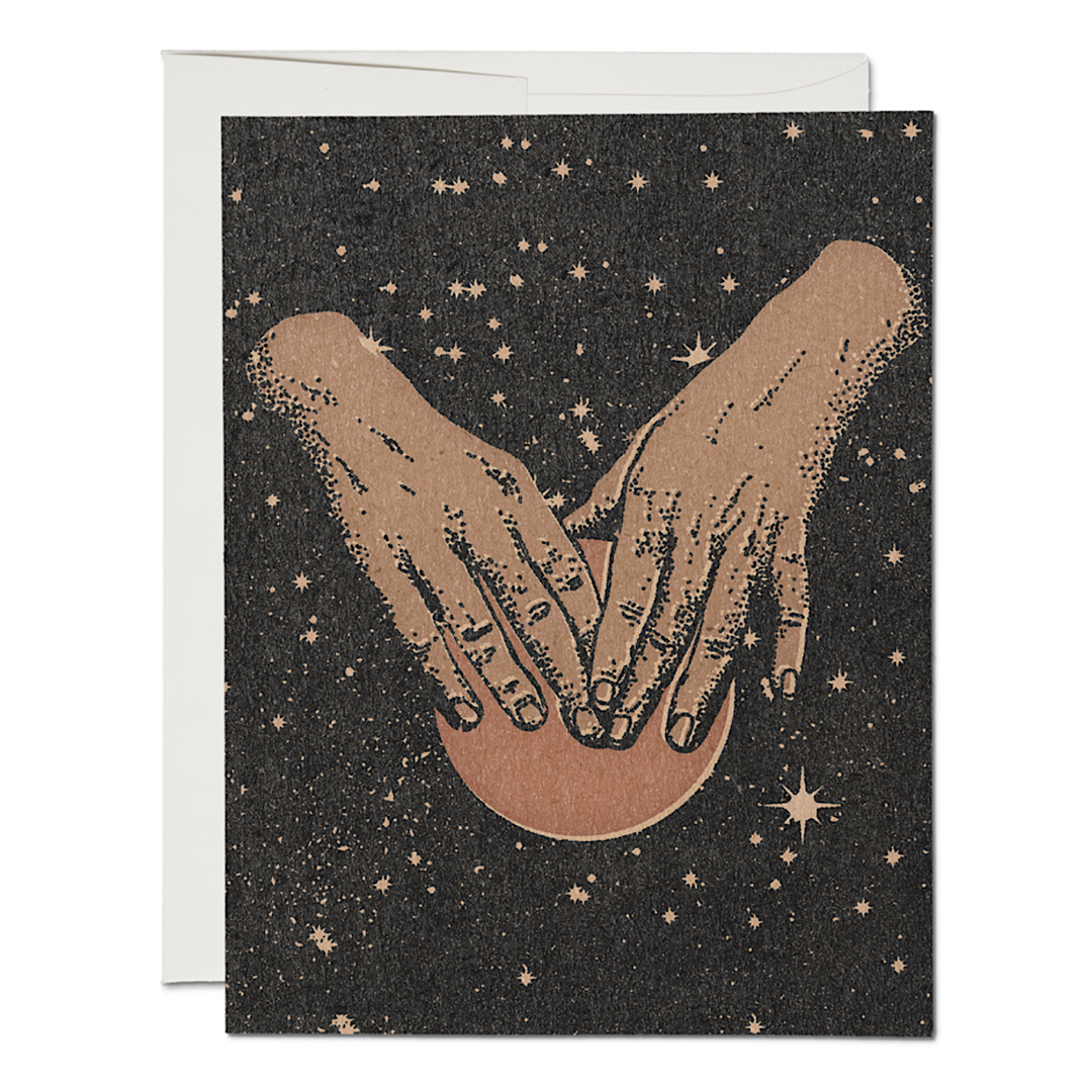 Hands In Space Greeting Card - RC60