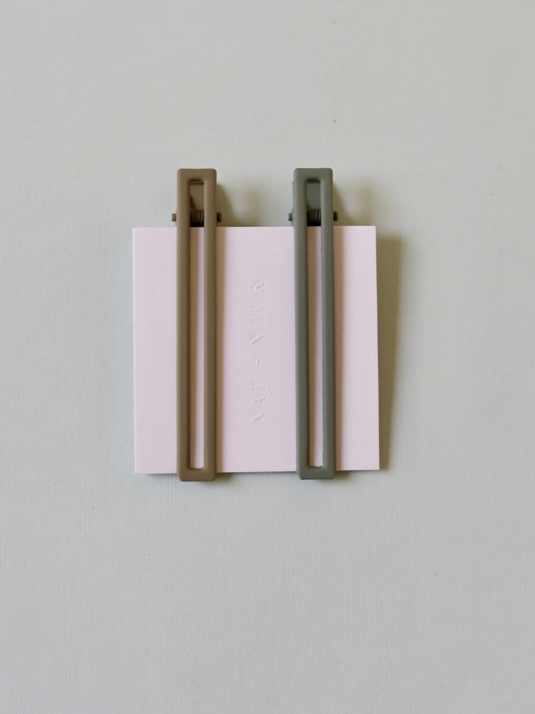 Leia Hair Clip Set - Sage & Olive