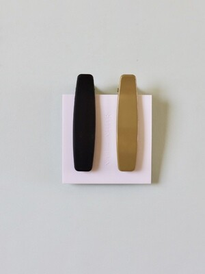 Lani Hair Clip Set - Black & Olive