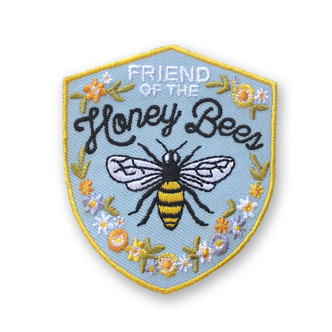 Honey Bee Embroidered Patch - AQPA7