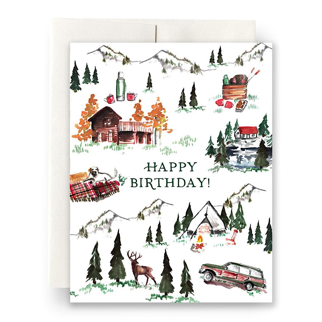 Alpine Lodge Birthday Greeting Card - AQ24
