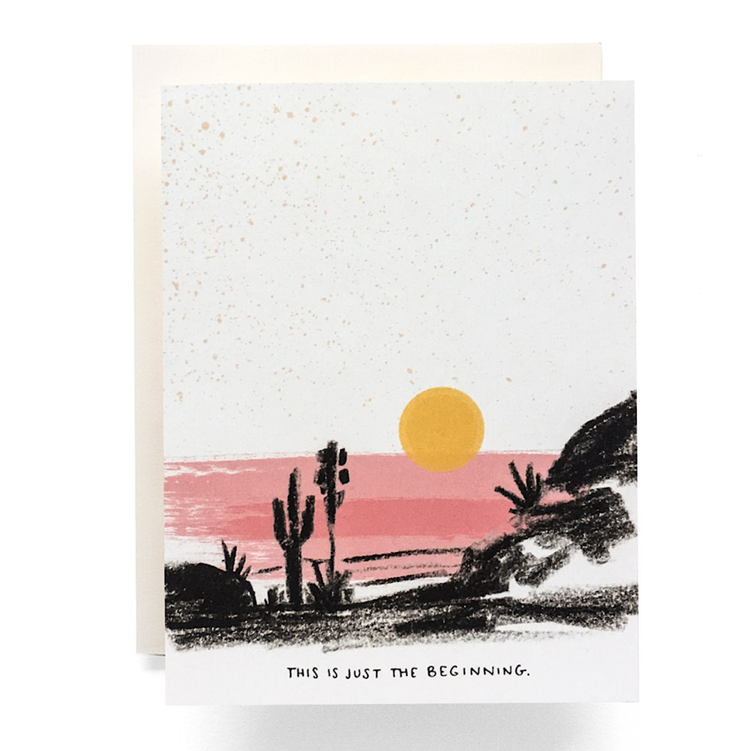 Just The Beginning Greeting Card - AQ25