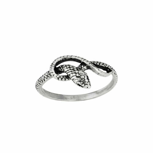 Sterling Silver Knotted Snake Ring - RTM4193