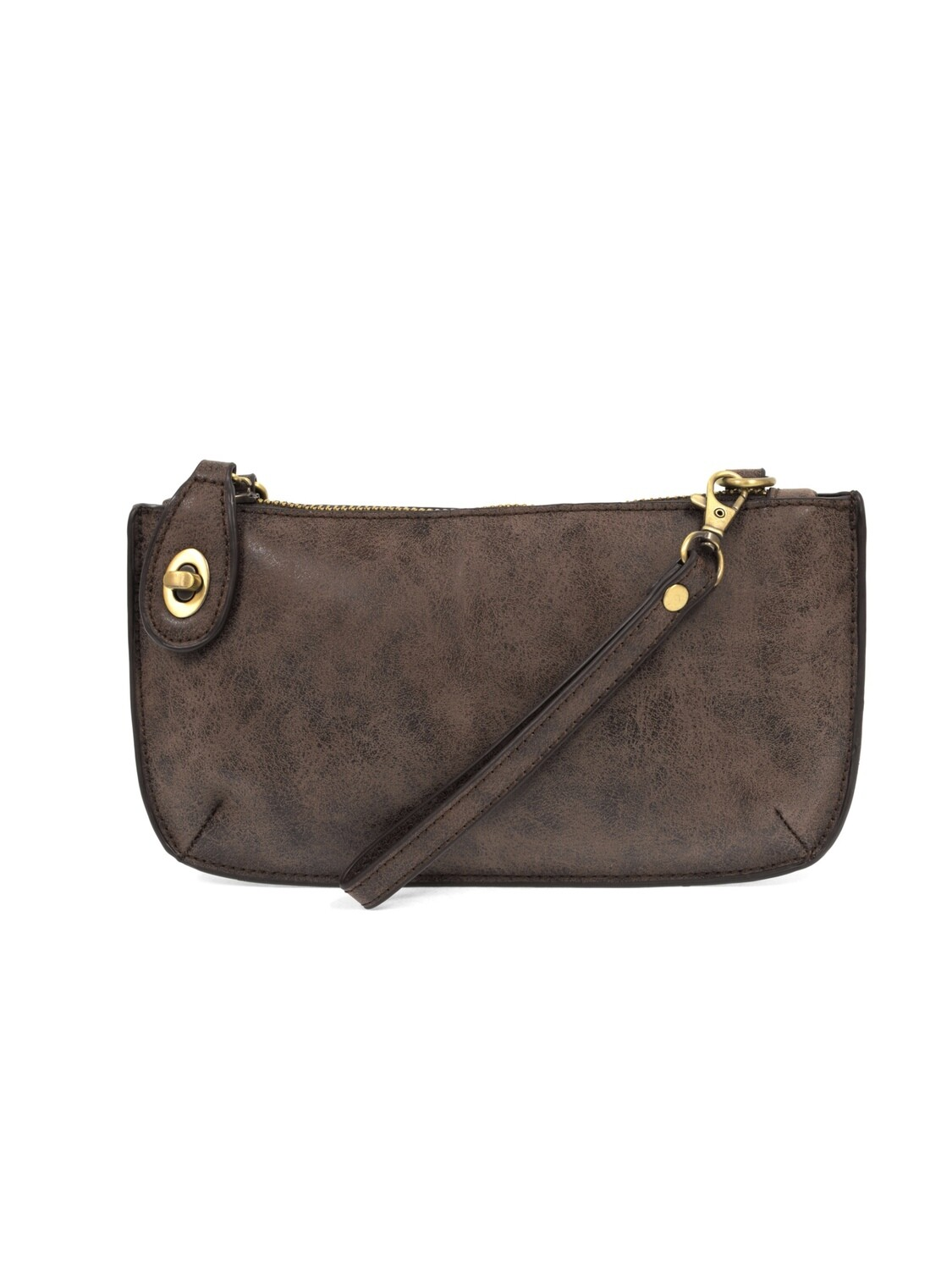 Lux Crossbody Wristlet Clutch Chocolate JA8020-63