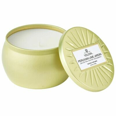 Peruvian Lime Jardin Candle - Voluspa Vermeil Petite Tin 4.5oz