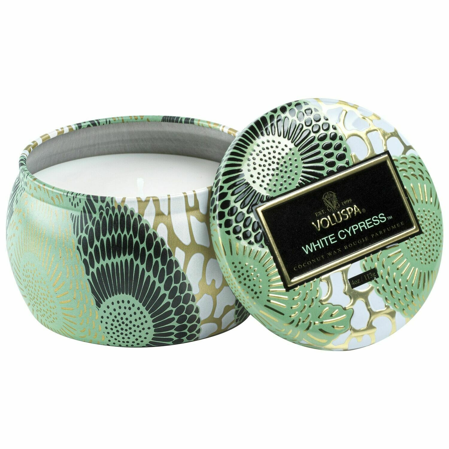 White Cypress Candle - Voluspa Petite Tin Candle