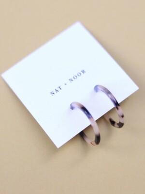 Sol Acetate Hoop Earrings - Tortoise