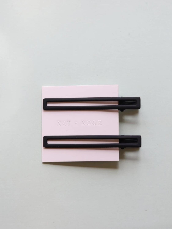Leia Hair Clip Set - Black
