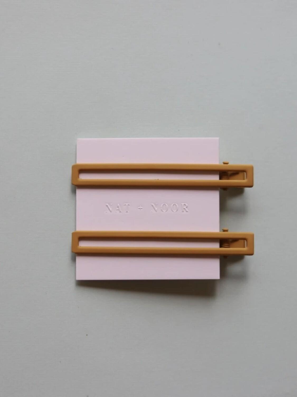 Leia Hair Clip Set - Mustard