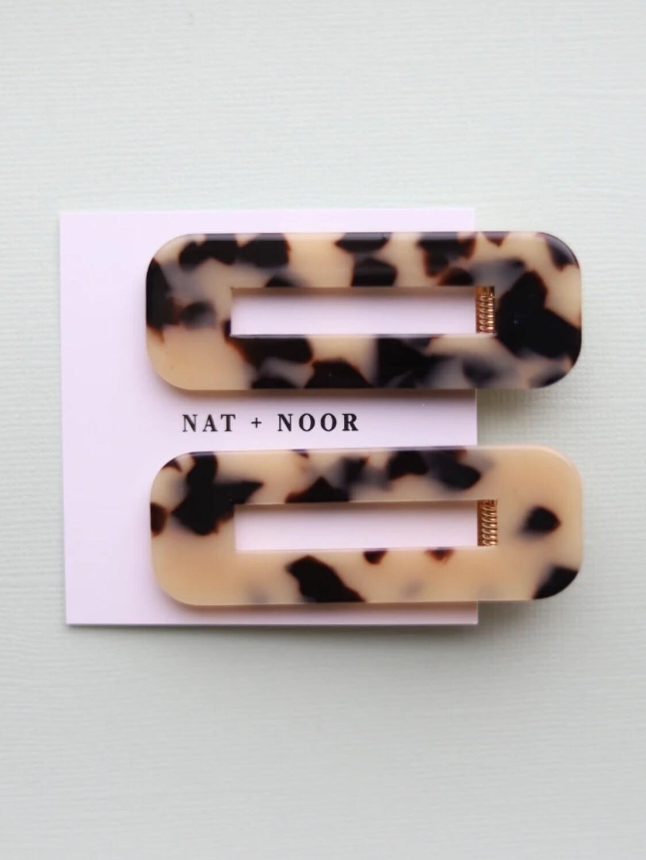 Tortoise Hair Clip Set - Ivory
