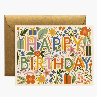 Fiesta Birthday Card - Rifle Paper Co. RPC120