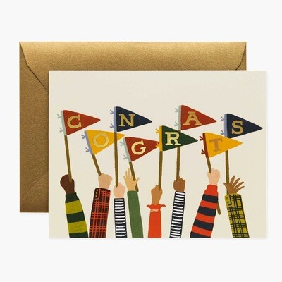Congrats Pennants Card - Rifle Paper Co. RPC129