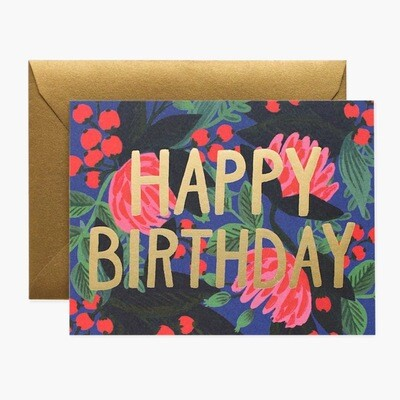 Floral Foil Birthday Card - Rifle Paper Co. RPC126