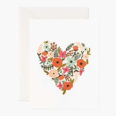 Floral Heart Card - Rifle Paper Co. RPC130