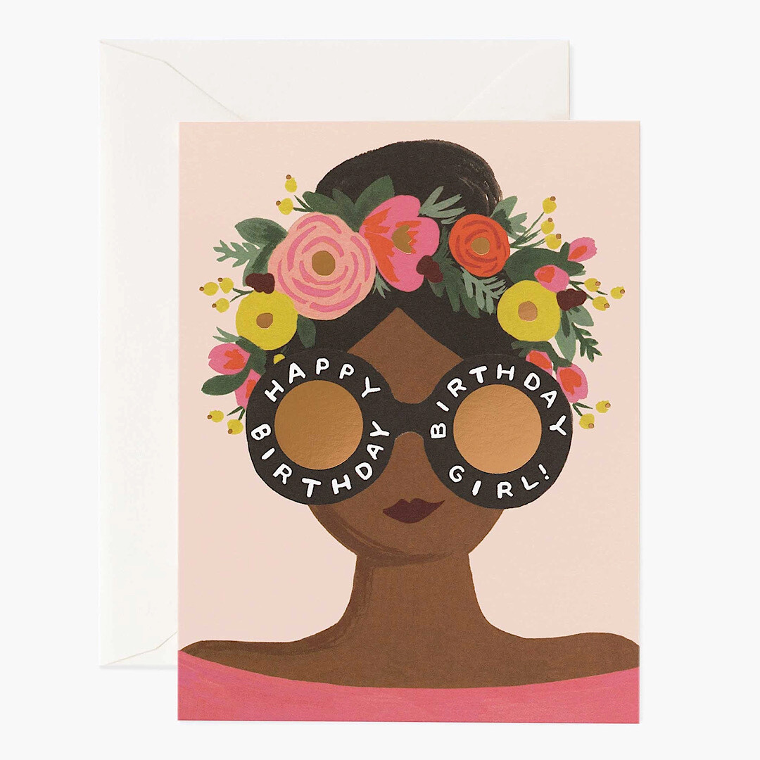 Flower Crown Birthday Girl Card - Rifle Paper Co. RPC123