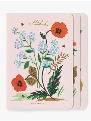 Botanical Notebooks - Set of 3 - Rifle Paper Co. RPC38