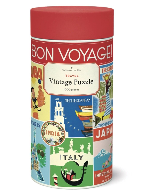 Vintage Travel Puzzle 1,000 Pieces