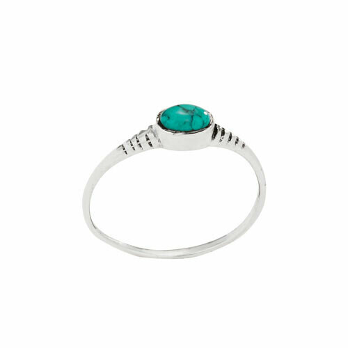 Sterling Silver Turquoise Stacking Ring - RTM4287